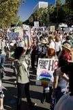 Protest-Sammlung u. März des Vorschlag-8 in Los Angeles Stockbilder