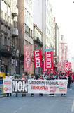 Protest in Spain stock photo