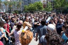 Protest in Spanien Lizenzfreies Stockfoto