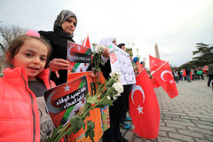 Protest for Sultanahmet Attack Stock Image