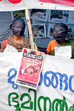 Protest in support urban indigenous people, India Stock Image
