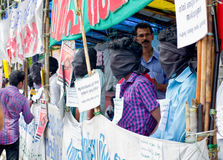 Protest in support urban indigenous people, India Stock Photography