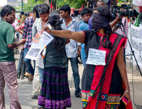 Protest in support urban indigenous people, India Royalty Free Stock Photo