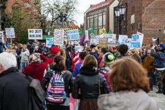 Protest tegen anti-abortuswet in Polen, Gdansk, 2016 04 24, Royalty-vrije Stock Foto