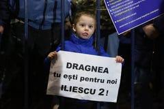 Protest tegen corruptie en Roemeense Overheid royalty-vrije stock afbeelding
