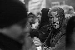 Protest tegen corruptie en Roemeense Overheid stock foto's