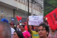 Protest tegen corruptie in Honduras tegen Juan Orlando Hernandez 15 royalty-vrije stock afbeeldingen