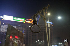 Protest tegen corruptiehervormingen in Boekarest stock foto