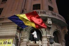 Protest tegen coruption en Roemeense Overheid royalty-vrije stock afbeeldingen