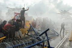 Protest tegen Filippijnse President Aquino royalty-vrije stock foto