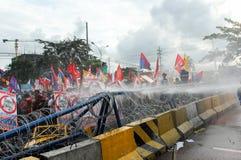 Protest tegen Filippijnse President Aquino royalty-vrije stock fotografie