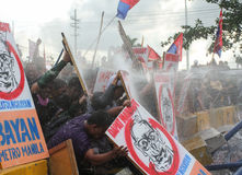 Protest tegen Filippijnse President Aquino royalty-vrije stock foto's