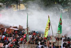 Protest tegen Filippijnse President Aquino royalty-vrije stock afbeelding