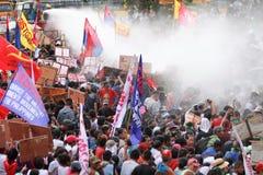 Protest tegen Filippijnse President Aquino royalty-vrije stock afbeeldingen