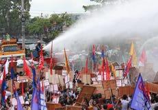 Protest tegen Filippijnse President Aquino stock afbeeldingen