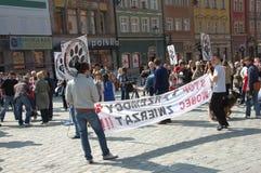 Protest tegen geweld in Polen Royalty-vrije Stock Foto