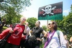 Protest tegen Monsanto, Zagreb, Kroatië Royalty-vrije Stock Afbeeldingen