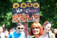 Protest tegen Monsanto, Zagreb, Kroatië Stock Afbeelding