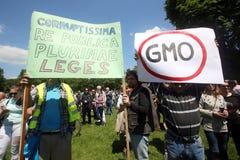 Protest tegen Monsanto, Zagreb, Kroatië Stock Foto