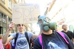Protest tegen Monsanto, Zagreb, Kroatië Stock Foto's