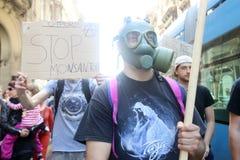 Protest tegen Monsanto, Zagreb, Kroatië Royalty-vrije Stock Foto