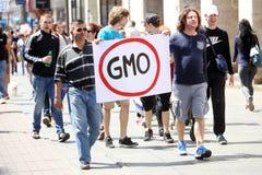 Protest tegen Monsanto, Zagreb, Kroatië Royalty-vrije Stock Foto's