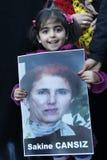 Protest tegen moord van leden PKK in Istanboel royalty-vrije stock afbeeldingen