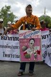 Protest tegen overheidscorruptie Stock Fotografie