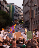 Protest tegen paus in Madrid 2 Stock Foto