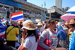 Protest in Thailand. Stock Photography