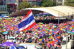Protest in Thailand. Royalty Free Stock Photography