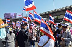 Protest in Thailand. Royalty Free Stock Photos