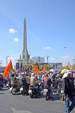 Protest in Thailand. Royalty Free Stock Images