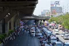 Protest in Thailand Royalty Free Stock Images