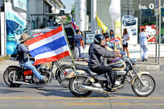 Protest in Thailand. Stock Photos