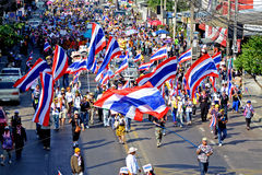Protest in Thailand. Royalty Free Stock Photo