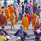 Protest in Thailand. Stock Photo