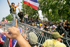 Protest of Thailand people against the government Stock Photography