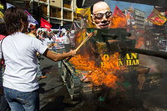 Protest tijdens de Dag van Rechten van de mens Royalty-vrije Stock Foto