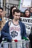 Protest-Trommeln Lizenzfreies Stockfoto