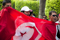 Protest in Tunisia Royalty Free Stock Image