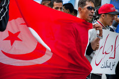 Protest in Tunisia Stock Image