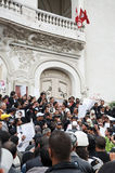 Protest in Tunisia Stock Photography