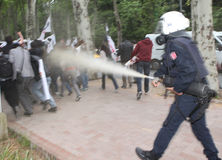 Protest in Turkey. Royalty Free Stock Image