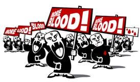 Protest-Vampir-Manndemonstration lizenzfreie abbildung