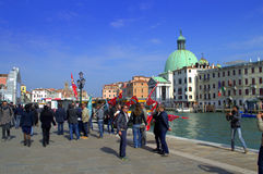 Protest in Venice Royalty Free Stock Photography