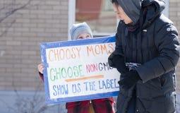 protest vermont för gmo montpelier Royaltyfri Foto