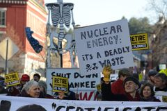 Protest Vermont Yankee Stock Photography