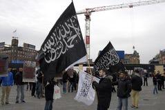 PROTEST VID HIZB UT-TAHIRIR AGAINT DANMARK Royaltyfria Bilder