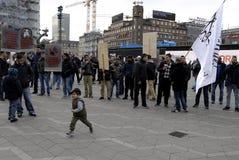 PROTEST VID HIZB UT-TAHIRIR AGAINT DANMARK Royaltyfri Foto